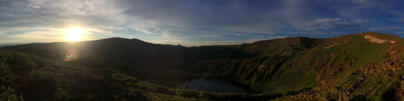 Sunrise above Heart Lake, peak morning 2014